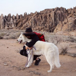 The Adventures of  John and Wolf dog in beautiful Nature.